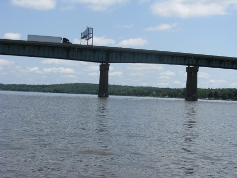 I-80 bridge from the Mississippi River